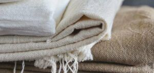 A linen fabric for weighted blankets. Photo credit: Maite Oñate via Unsplash.com.
