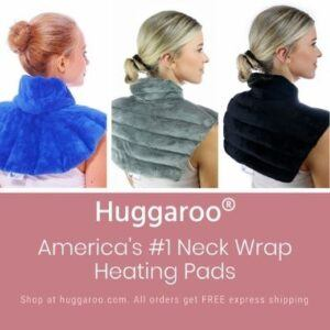 Huggaroo Heated Neck Pads. Image courtesy of Huggaroo.