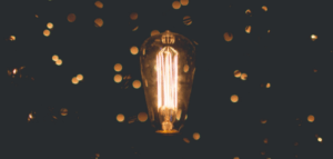 A light bulb. Image by Zach Lucero via unsplash.com.