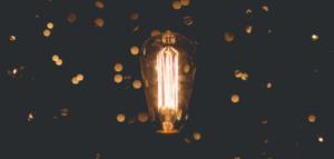 A light bulb. Image by Zach Lucero via unsplash.com.